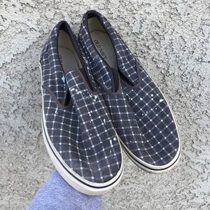 Vintage old navy men's slip on checkered shoes